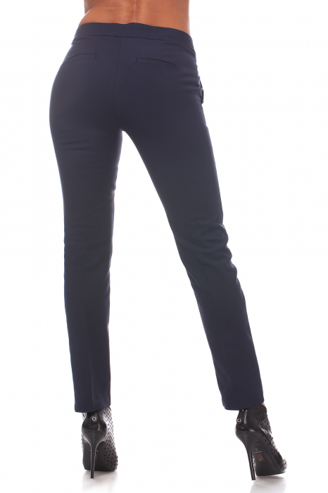 Pantaloni clasici din tercot bleumarin 1