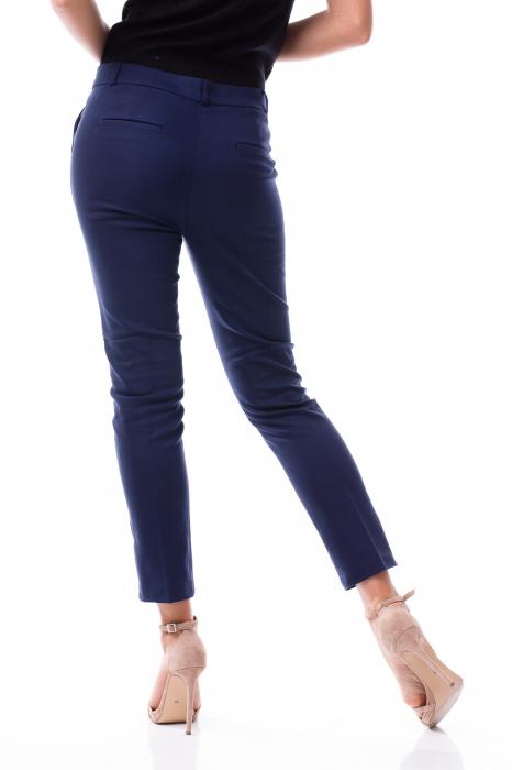 Pantaloni clasici din tercot bleumarin 5