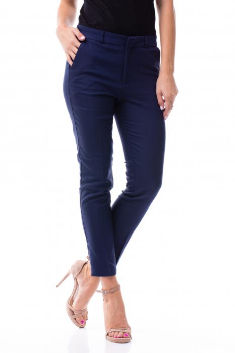 Pantaloni clasici din tercot bleumarin 4