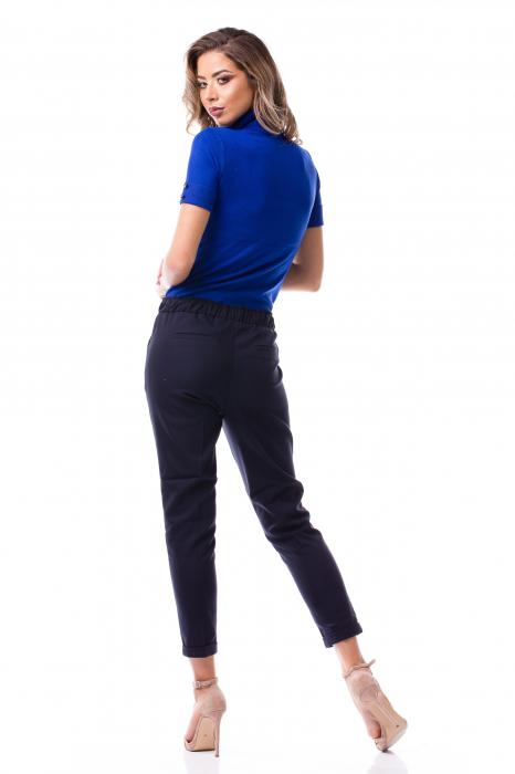 Pantaloni casual - office cu șiret pe talie 3