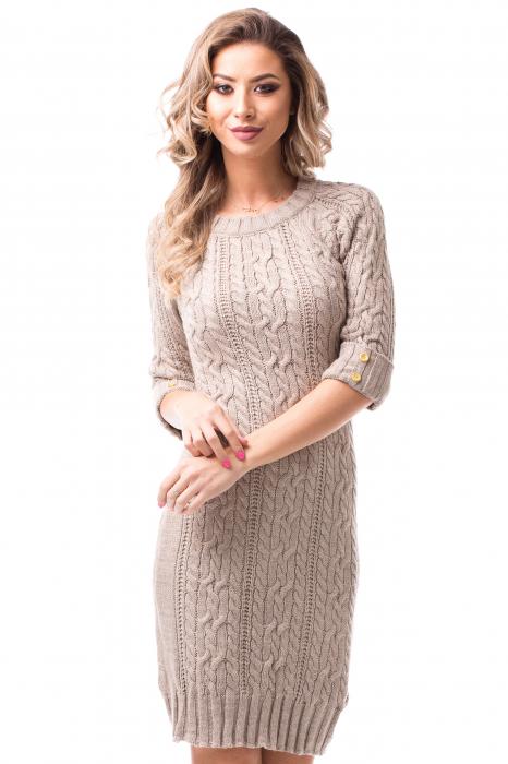 Rochie tricotată medie 1