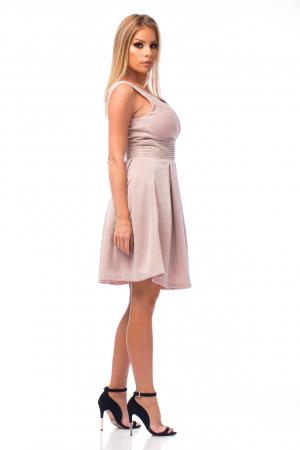Rochie elegantă cu strasuri aplicate pe talie3