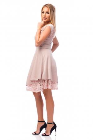 Rochie elegantă cu elemente din dantelă2