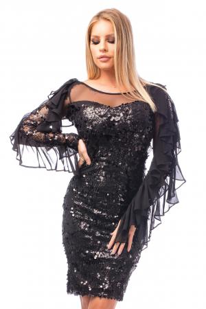 Rochie elegantă cu paiete1