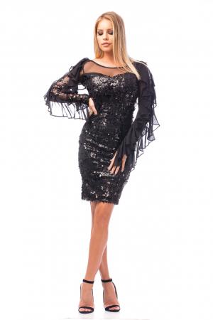 Rochie elegantă cu paiete0