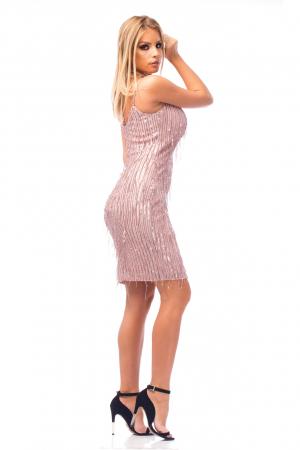 Rochie elegantă scurtă cu barete subțiri3