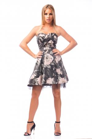 Rochie elegantă cu elemente florale0