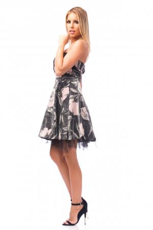 Rochie elegantă cu elemente florale2