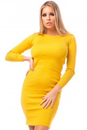 Rochie elegantă galbenă1