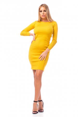 Rochie elegantă galbenă0