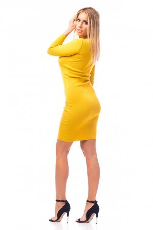 Rochie elegantă galbenă2