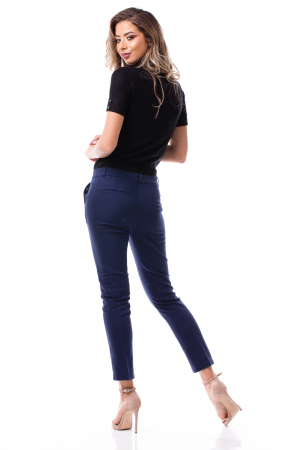 Pantaloni clasici din tercot bleumarin3