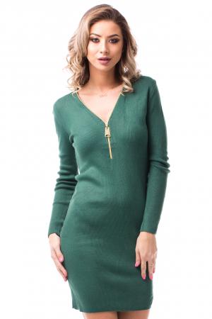 Rochie tricotată scurtă cu decolteu în V1