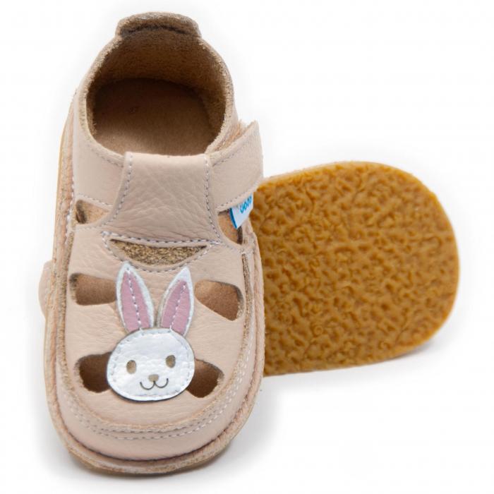 Sandale crem cu iepuras, Dodo Shoes 0