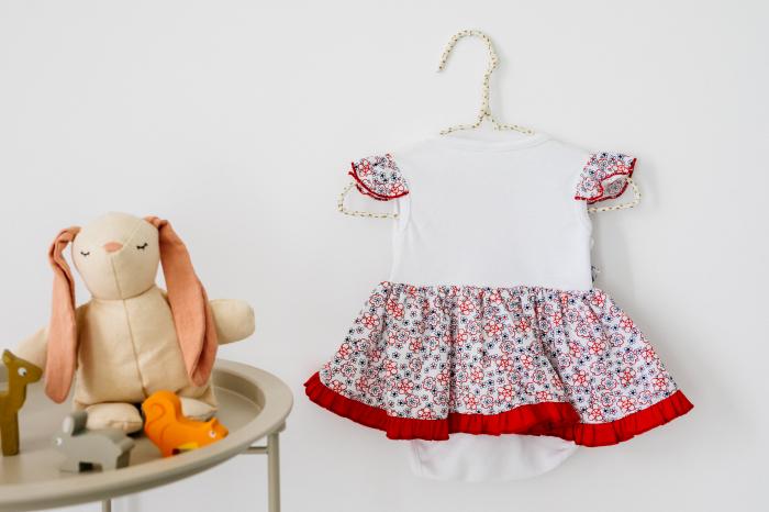 Body rochița pentru fete, rosie, TinTin Shop [1]