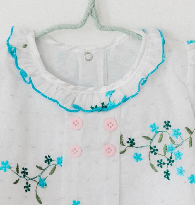 Body rochița pentru fete, turcoaz, TinTin Shop [2]