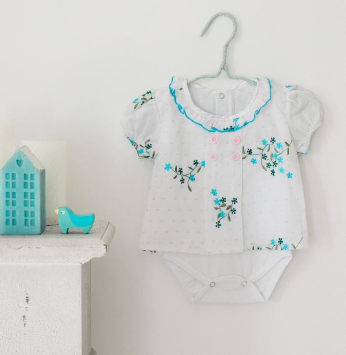 Body rochița pentru fete, turcoaz, TinTin Shop [0]
