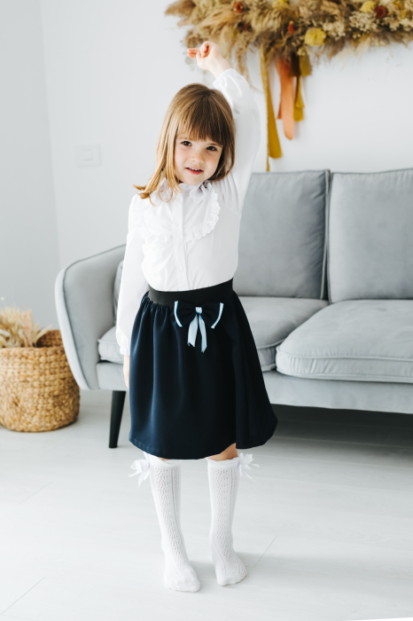 Camasa Alba Pentru Fete, Cu Dantela, Pentru Scoala, TinTin Shop [3]