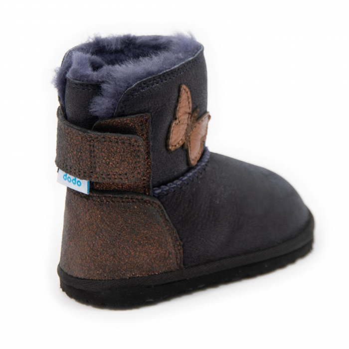 Cizme imblanite cobalt cu fluturas, DODO Shoes 1