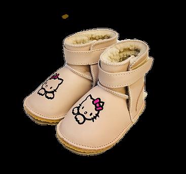 Cizme imblanite Baby piersica cu Hello Kitty [0]