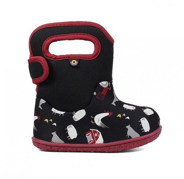 Cizme impermeabile copii, BOGS FOOTWARE, Farm Black 0