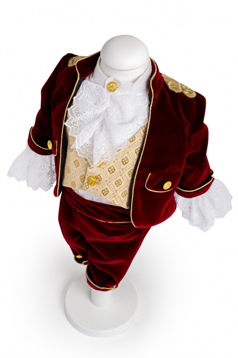 Costum Micul Print din catifea bordo, TinTin Shop [0]
