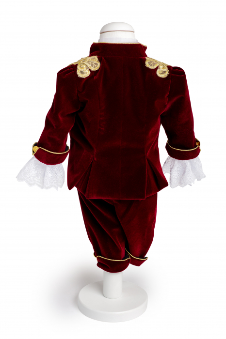 Costum Micul Print din catifea bordo, TinTin Shop [1]