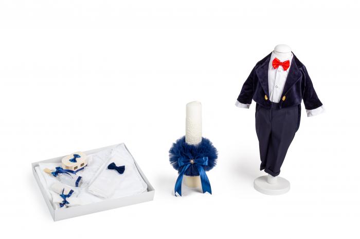 Costum frac catifea albastru TinTin Shop [3]
