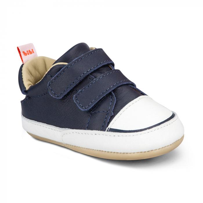 Pantofi Bibi Afeto Joy Naval/alb cu velcro 1