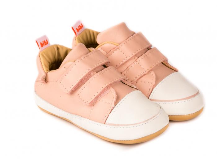 Pantofi Bibi Afeto Joy camelia cu velcro 0