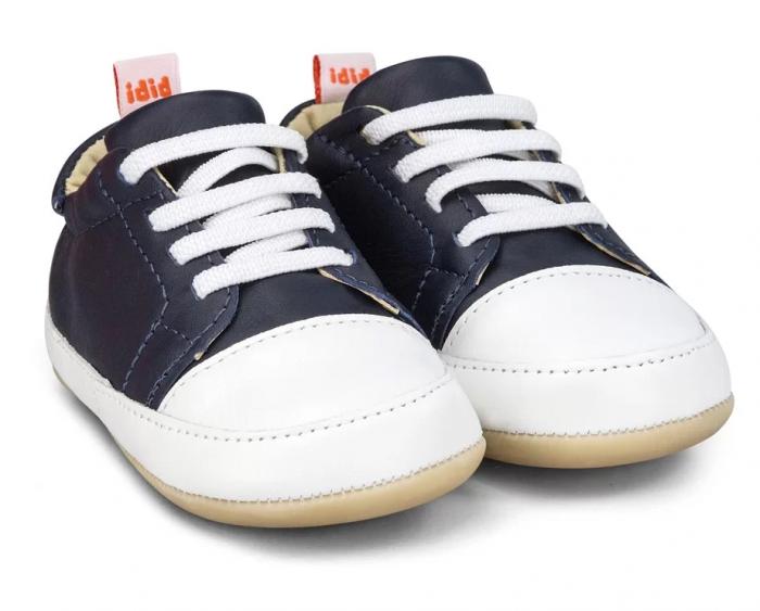 Pantofi Bibi Afeto Joy Naval/alb cu siret elastic 0