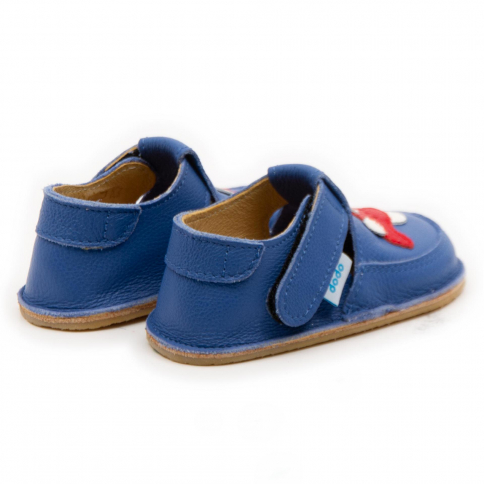 Pantofi copii albastri cu avion, Dodo Shoes 1
