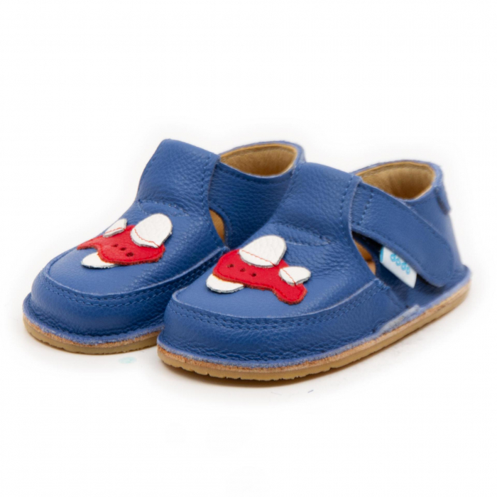 Pantofi copii albastri cu avion, Dodo Shoes 2