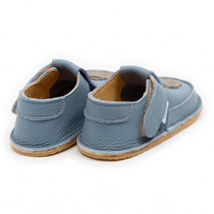 Pantofi copii baby blue cu hipopotam, Dodo Shoes 2