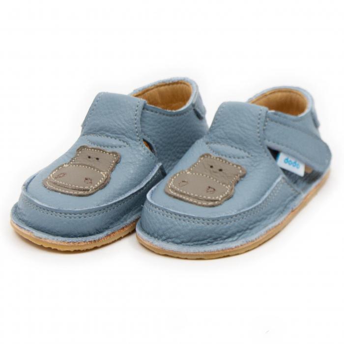 Pantofi copii baby blue cu hipopotam, Dodo Shoes 1