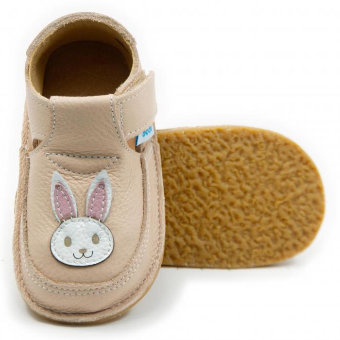 Pantofi crem cu iepuras, Dodo Shoes 0
