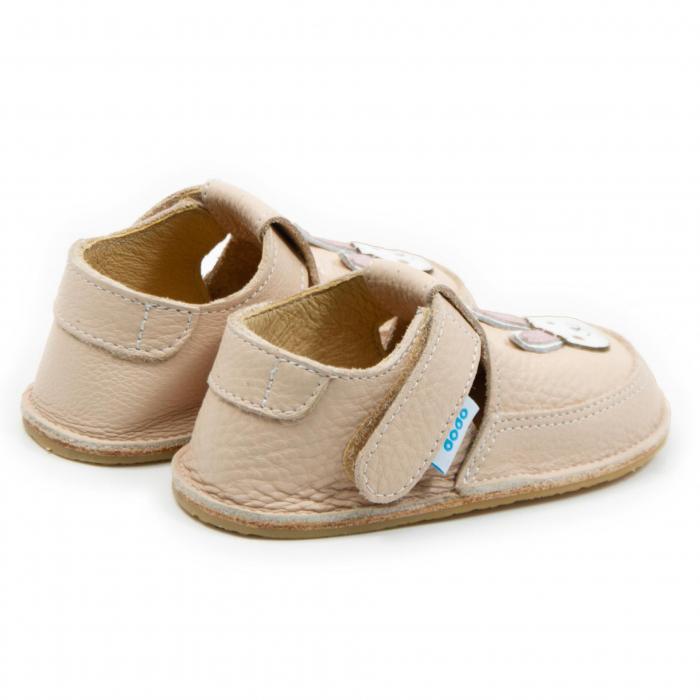 Pantofi crem cu iepuras, Dodo Shoes 2