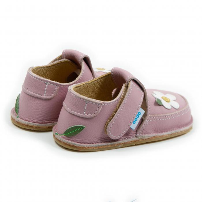 Pantofi cameo cu floare alba, Dodo Shoes [2]