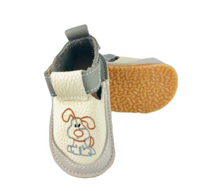 Pantofi gri cu catel, Macco 0