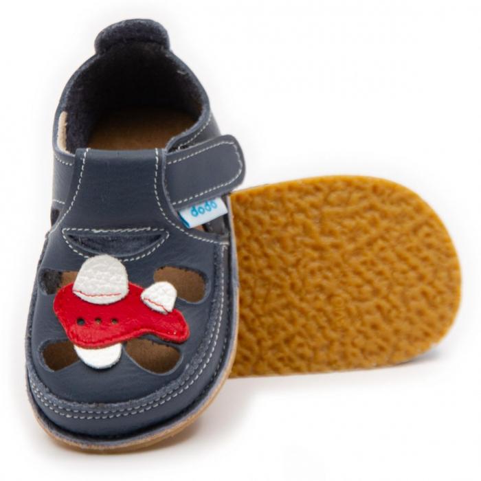 Sandale copii, smokey sky cu avion, Dodo Shoes 0