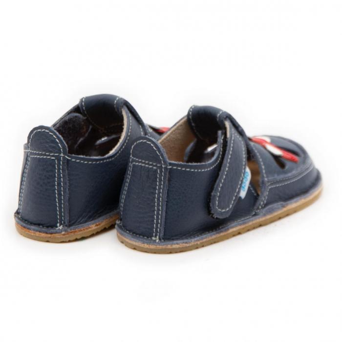 Sandale copii, smokey sky cu avion, Dodo Shoes 2