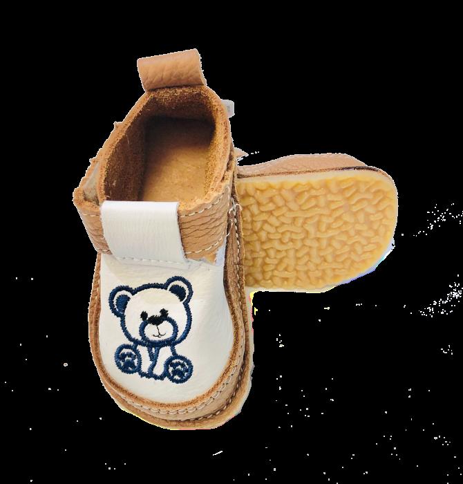Pantofi maroniu cu ursuleț, Macco 0