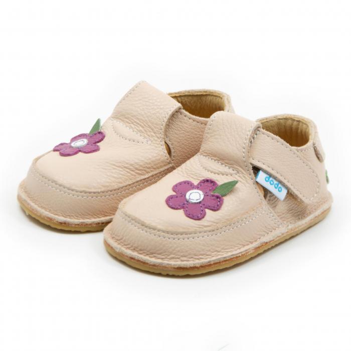 Pantofi crem cu wild flower, Dodo Shoes 1