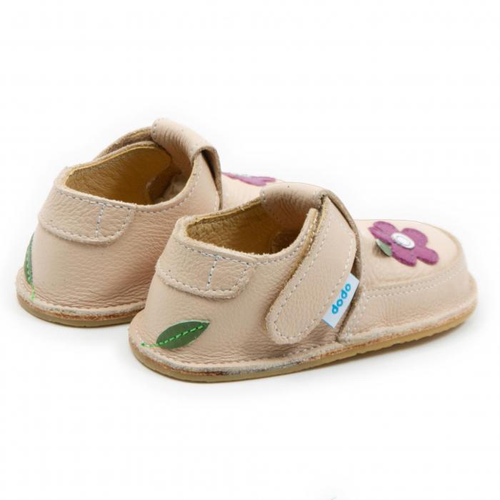 Pantofi crem cu wild flower, Dodo Shoes 2