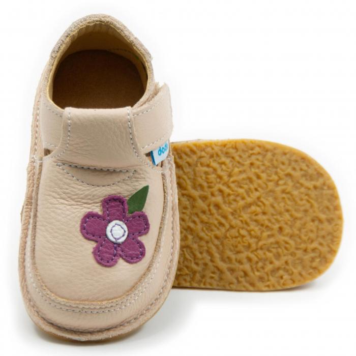Pantofi crem cu wild flower, Dodo Shoes 0
