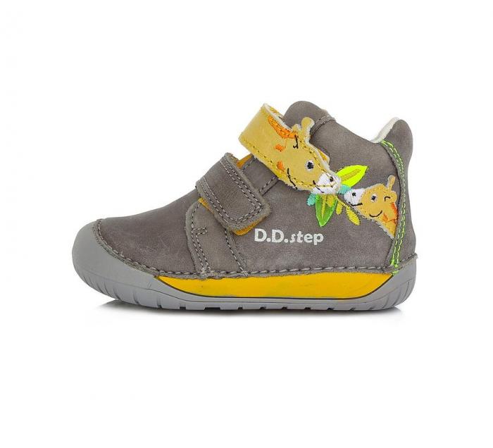 Ghete Unisex Barefoot Bej cu Girafa, D.D.Step [0]