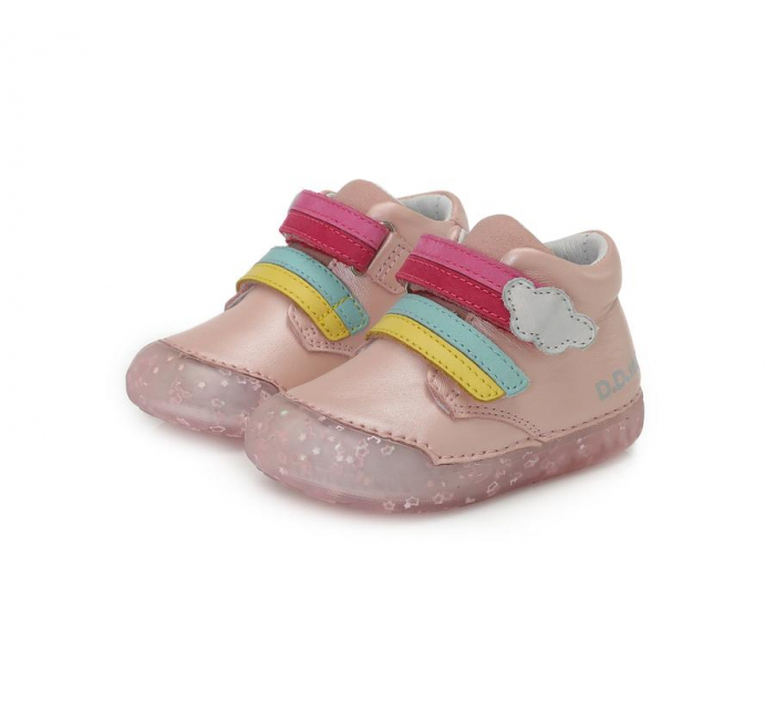 Pantofi sport roz curcubeu D.D.Step 066-9A [1]