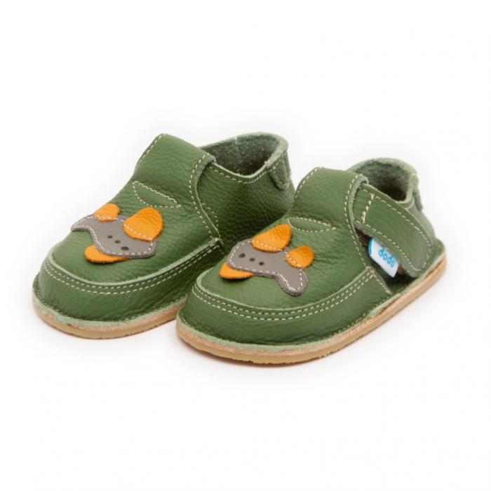 Pantofi verzi cu avion, Dodo Shoes 1