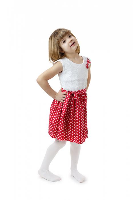 Rochie fete Minnie, rosie cu buline albe si top alb, TinTin Shop 1