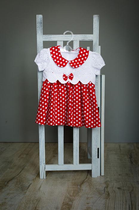 Rochie fetite Minnie, rosie cu buline albe, TinTin Shop [0]